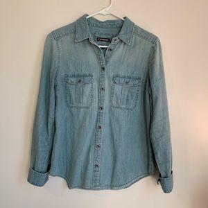 Express Denim Button Down Shirt